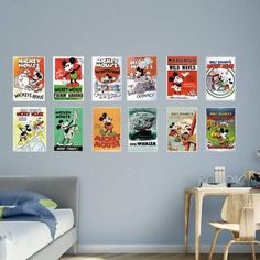 Fathead Mickey Mouse Vintage Poster Wall Mural, Black