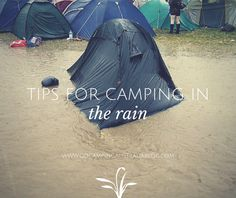 tips for camping in rain