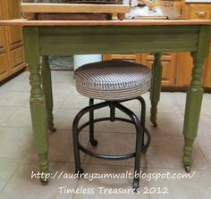 Timeless Treasures: Great legs on this old stool.Before-After