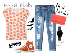 """""""Lemon Looks"""" by laura-rathbone on Polyvore featuring Aéropostale, Chicnova Fashion, Converse, Kate Spade, Mundi and H&M"""