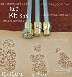 Tools für Leder-Handwerk. Stempel 21 Kit 3 von LeatherStampsTools