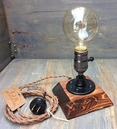 Industrial Lamp-Rustic Table Lamp-Steampunk Reading Desk