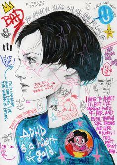 """ADHD""  MR.FRIVOLOUS BLOG:   DAVID BRAY X MR.FRIVOLOUS COLLABORATION"