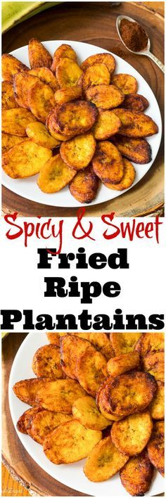An easy recipe for fried ripe plantains with a sweet yet spicy kick. A great alternative for this popular Caribbean and African side(Sweet Recipes) Vegetarian Meals For Kids, Kids Cooking Recipes, Healthy Meals For Kids, Vegetarian Recipes, Easy Meals, Healthy Recipes, Kid Recipes, Jello Recipes, African Food Recipes