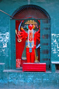 Streetside Altar with all yours avatars, Varanasi, India.