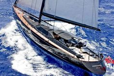 Luxury sailing yacht Moonbird (ex 'Midnight') was designed by Dubois Naval Architects and built by Fitzroy Yachts in New Zealand.