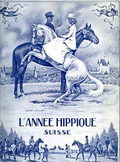 livre Très luxueuse publication annuelle consacrée au sport équestre en Suisse pour l'année 1945 : concours et championnats, sport militaire et civil, histoire, etc. Illustré de très nombreuses photos