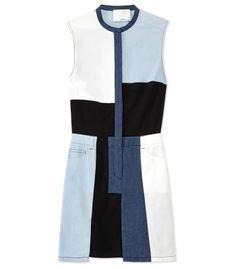 3.1 Phillip Lim Patchwork Chambray Cut-Up Dress - ShopBAZAAR