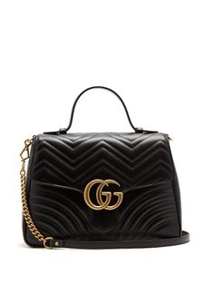 GG Marmont medium quilted-leather shoulder-bag | Gucci