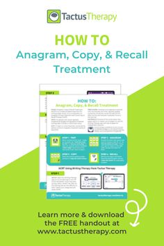 A step-by-step guide to ACRT speech therapy for aphasia to improve writing. Do anagram, copy, and recall treatment (ACT + CART) with an app independently. Aphasia Therapy, Speech Therapy, Speech Language Pathology, Speech And Language, Evidence Based Medicine, Improve Writing, Stroke Recovery, Apraxia