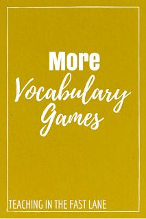 More Vocabulary Games-My students love playing these games with our word wall, and I love that it keeps the words fresh in their memory. Geometry Vocabulary, Academic Vocabulary, Teaching Vocabulary, Vocabulary Building, Vocabulary Activities, Vocabulary Words, Teaching Reading, Vocabulary Strategies, Spelling Activities