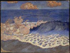 Marine bleue. Effet de vagues - Georges Lacombe
