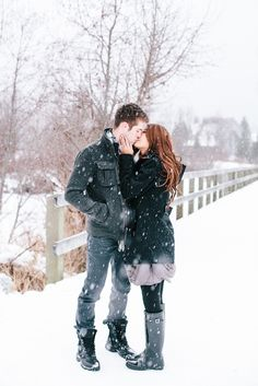 Read More: http://www.stylemepretty.com/canada-weddings/2015/02/26/romantic-whistler-winter-engagement-session/