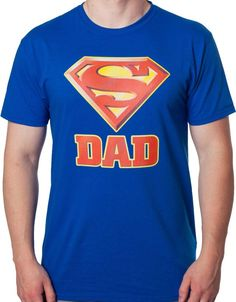 Superman is the most popular superhero in DC Comics, now your dad can feel like he's just as iconic as the Man of Steel with this Superman Dad t-shirt.