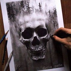 SkullArt drawing