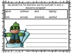 Descriptive Writing Winter Activities