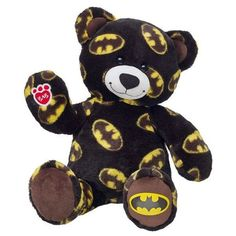16 in. Batman Bear ❤ liked on Polyvore featuring batman, stuffed animals, accessories, other and black