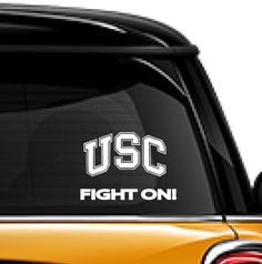 USC Fight On! decal, FREE SHIPPING, college decal, dorm room decal, University of Southern California, usc football decal, #fighton, by MDdecals on Etsy https://www.etsy.com/listing/520872676/usc-fight-on-decal-free-shipping-college