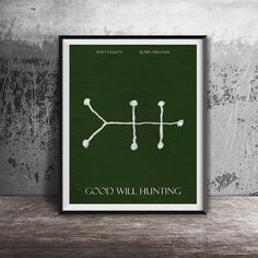 Movie poster printGood Will Hunting-alternative by OandBstudios