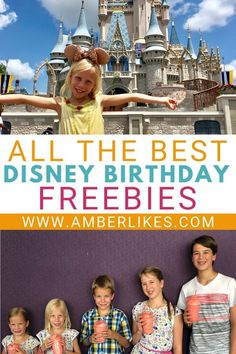 is your complete guide to all the best Disney World birthday freebies!This is your complete guide to all the best Disney World birthday freebies! Disney Planning Binder, Disney World Vacation Planning, Walt Disney World Vacations, Vacation Ideas, Trip Planning, Disney Travel, Disney Secrets, Disney World Tips And Tricks, Disney Tips