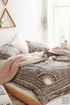 #Magical Thinking #Petra Geo Medallion #Duvet Cover,BLACK,FULL/QUEEN