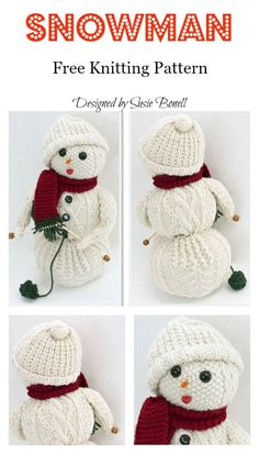 Amigurumi Snowman Free Knitting Pattern Amigurumi Snowman Free Knitting Pattern Always aspired to be able to knit,. Christmas Knitting Patterns, Baby Knitting Patterns, Crochet Patterns, Loom Knitting, Free Knitting, Knitted Dolls Free, Knitted Washcloth Patterns, Knitting For Charity, Crochet Christmas Decorations