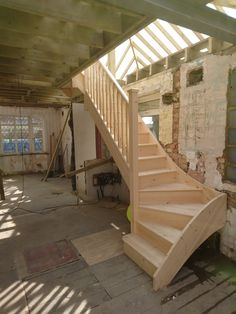 Outstanding Wooden Staircases From The UK's Staircase Manufacturer. Design & Order Your Custom Timber Staircase Using Our Online Builder Tool Timber Staircase, Wooden Staircases, Stair Builder, Staircase Manufacturers, Pine, French, Projects, Design