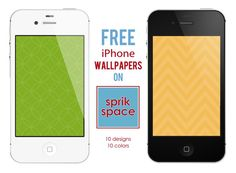 FREE iPhone Wallpapers - 10 designs in 10 colors - on Sprik Space