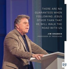 There are no guarantees when following Jesus other than that he will walk the road with us. #sechapel