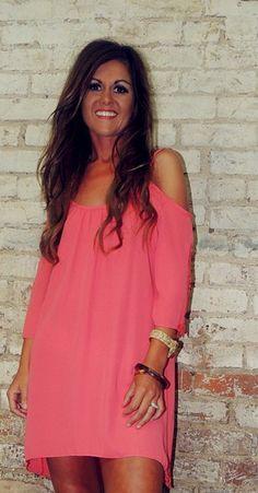 Coral & Crochet Dress-