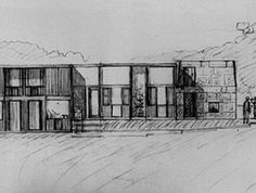 Fisher House by Louis Kahn #architecture #sketch