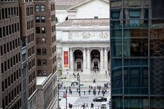 Our view of NY Public Library from The Library Hotel, NYC