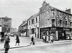 The Buttery, A B Hutchison's Bakery and tearoom, on the corner of George Street and Loch Street. Later demolished and is now the Bon Accord Centre.