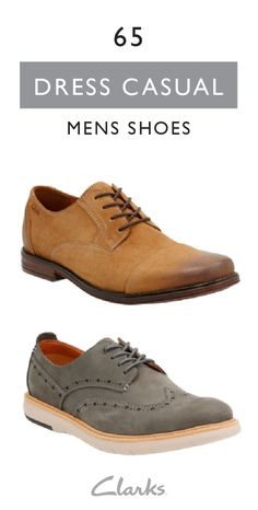 new arrival ba5c9 d3d41 Dress casual yet look sophisticated in a pair of Clarks shoes. Clarks men s  collection provides
