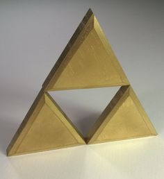 The Legend of Zelda Triforce by CrazyCarpentry on Etsy, $15.00