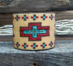 Desert Sage Bead Art: ....Red-Turquoise-Chocolate