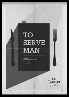 To Serve Man - Twilight Zone Posters by Luke Vickers