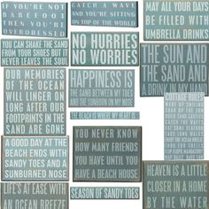 Which is your favorite sign? Comment below and let us know. We'll randomly select one person on Monday to receive their favorite for FREE. (this is a sampling of new beach signs that will be available at Seaside Inspired week of 5/14)
