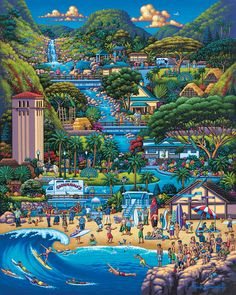 """1000 pieces Made by Dowdle Folk Art Completed puzzle measures 19.25"""" x 26.625"""" Artist: Eric Dowdle More puzzles from Eric Dowdle"""