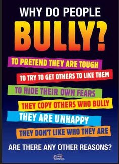 It's never ok to bully, never!