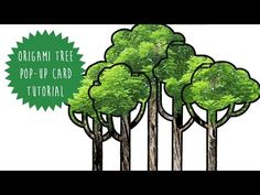Origami Tree Making Pop Up Card Tutorial Template - YouTube