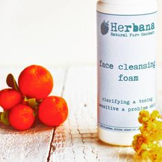 Cleansing Foam, Foaming Face Wash, Foam Cleanser, Facial Wash, Acne Skin, Problem Skin, Purifying, Natural Face Care by HerbanaCosmetics  A mild cleanser for all skin types deep-cleans pores, removes excess oils, and clears surface impurities leaving the skin feeling refreshed. Sulphate-free formula Hydrates your skin while delicately removing all traces of make-up and surface impurities Natural plant extracts are at the heart of the water-activated mousse formula's purifying and soothing…