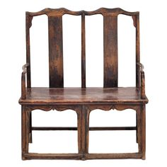 Chinese Double Yoke Back Chair | From a unique collection of antique and modern benches at http://www.1stdibs.com/furniture/seating/benches/