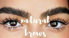 Natural Brow trend