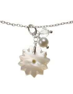 Shell Flower Bead Cluster necklace, £14.