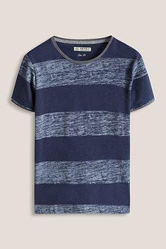 Esprit / Baumwoll-Mix Jersey T-Shirt mit Streifen