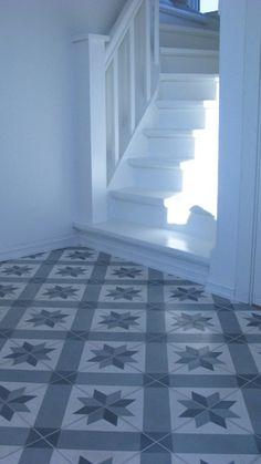 no Handpainted concrete tiles Concrete Tiles, Hexagon Tiles, Rustic Interiors, Tile Design, Terrazzo, Terracotta, Master Bath, Ramen, Tile Floor