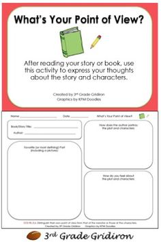 Worksheets Point Of View Worksheets Grade 4 1000 images about reading point of view on pinterest 3rd grade gridiron freebie