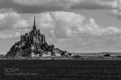 Le Mont Saint MIchel by malf_ikone Black and White Photography #InfluentialLime