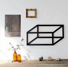 Easy DIY Art - Julie's Original Art Piece + What We're Making This Weekend - Emily Henderson Geometric Wall Art, 3d Wall Art, Decorating Small Spaces, Diy Canvas, Wall Art Designs, Diy Art, Easy Diy, Art Pieces, Original Art